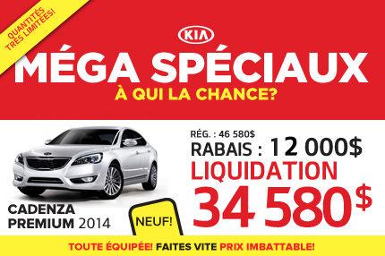 Méga Spéciaux de Kia: Cadenza Premium2014 à 36 850$