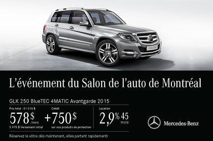 La Mercedes-Benz GLK 250 2015 à vous pour 578$ par mois