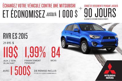Nouveau Mitsubishi RVR 2015 à l'achat à compter de 119$ aux 2 semaines