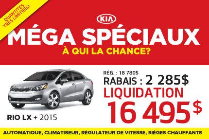 Le nouvelle Kia Rio LX+ 2015 à seulement 16 495$
