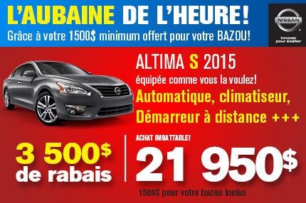 Nissan Altima 2015 à seulement 21 950$
