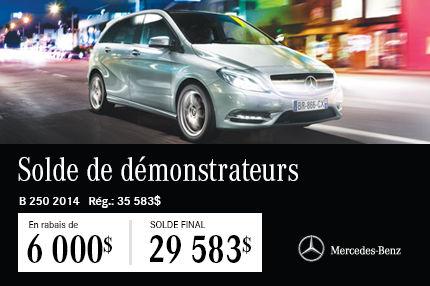 La Mercedes-Benz B250 DEMO: en Solde à 29 583$