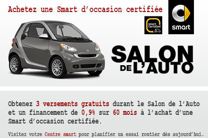 3 Versements Gratuits à l'achat d'une Smart certifiée