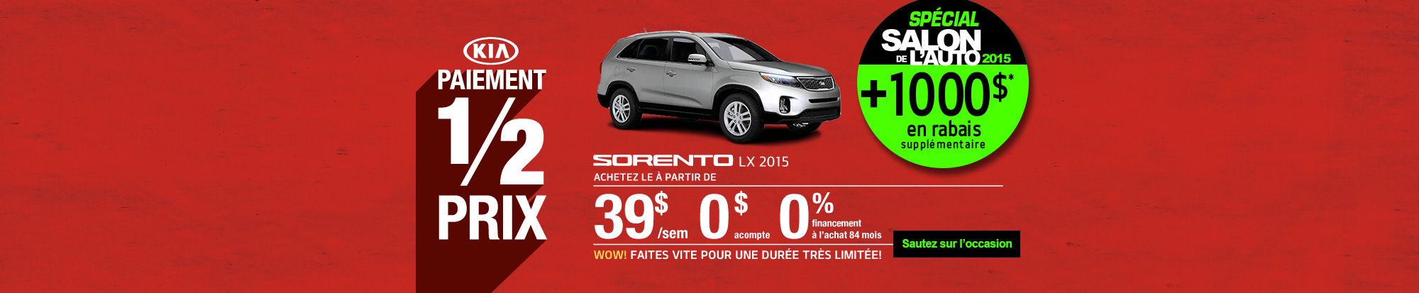 Sorento 2015  Spécial Salon de l'auto