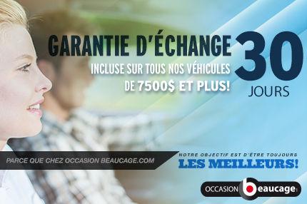 Garantie d'échange 30 jours exclusive à Occasion Beaucage