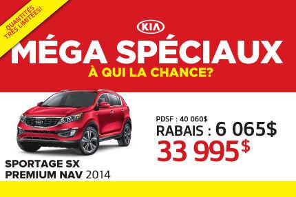 La nouvelle Kia Sportage SX NAV 2014 à 33 995$