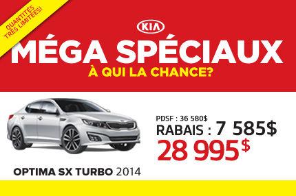 La Kia Optima SX Turbo 2014 à seulement 28 995$