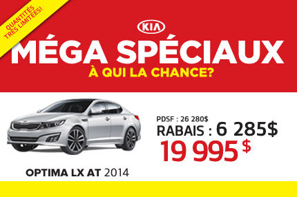 La Kia Optima LX AT 2014 à seulement 19 995$