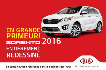 Le nouveau Kia Sorento 2016 arrivé en concession