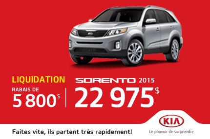 Kia Sorento 2015 liquidés de 5800$!