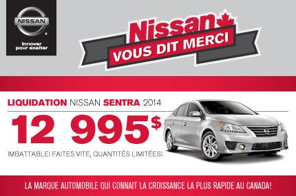 Nissan Sentra 2014 à compter de 12 995$