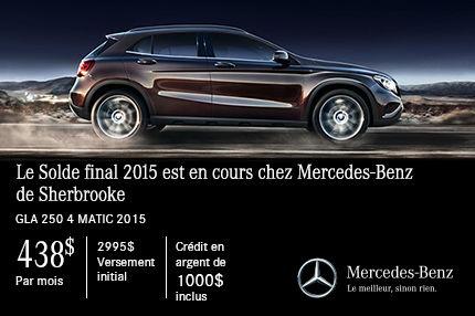 Mercedes-Benz GLA 250 2015: paiements mensuels de 438$