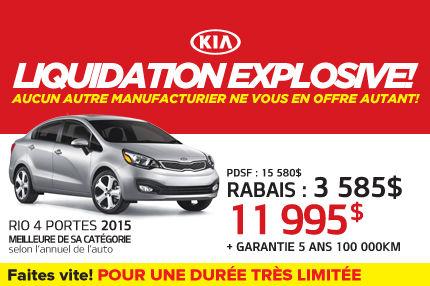 La Kia Rio 4 Portes 2015 à seulement 11 995$