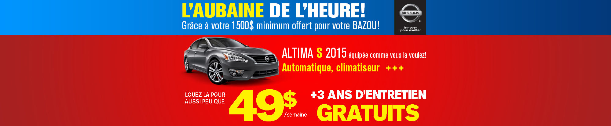 Nissan Altima 2015 (Copie Granby)