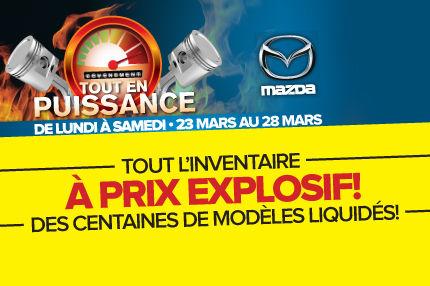 Plus de 600 véhicules Mazda disponibles à notre événement TOUT EN PUISSANCE!