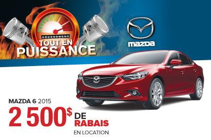 Liquidation choc: la Mazda 6 en rabais de 2500$