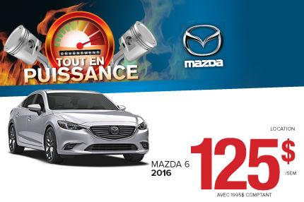 La location de la toute nouvelle Mazda 6 à seulement 125$ aux 2 semaines !