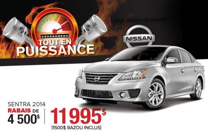Nissan Sentra 2014 à compter de 11 995$