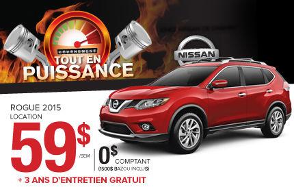 Nissan Rogue 2015: disponible à partir de 59$ par semaine