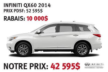 Infiniti QX60 avec ensemble privilège 2014 à partir de seulement 42 595$