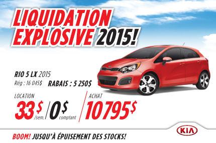 Louez la nouvelle Kia Rio LX 2015 à 33$/semaine