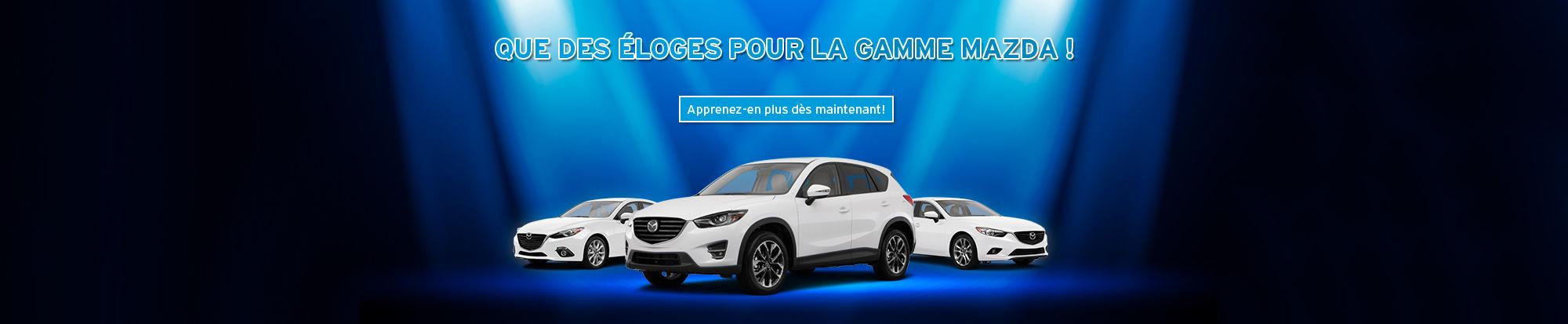 Que des éloges pour Mazda