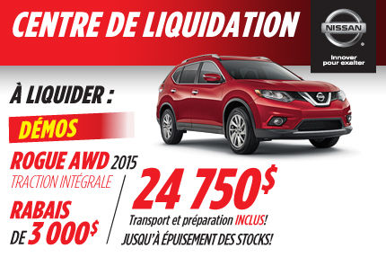Nissan Rogue AWD 2015: disponible à partir de 24 750$