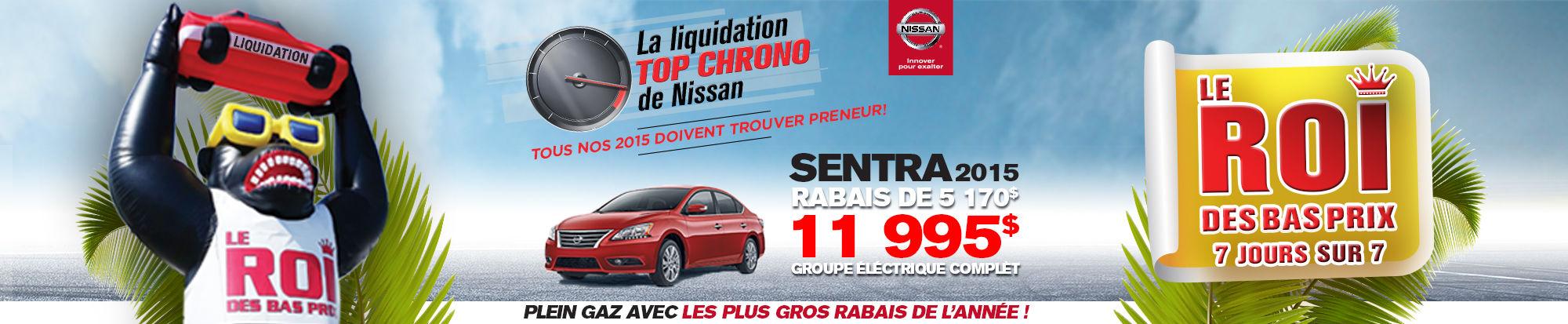 Cette semaine c'est la Liquidation TOP CHRONO chez NISSAN DE SHERBROOKE!