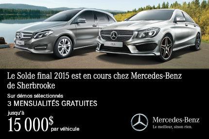 Solde final 2015 est en cours chez Mercedes-Benz de Sherbrooke