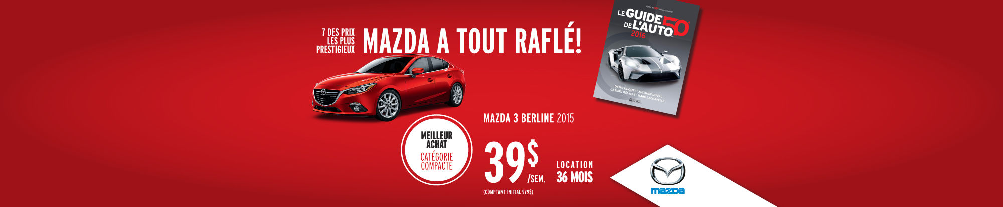 Véhicules de l'année Mazda 3 berline