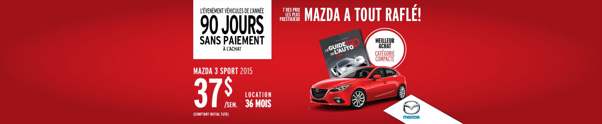 Véhicules de l'année Mazda3 sport
