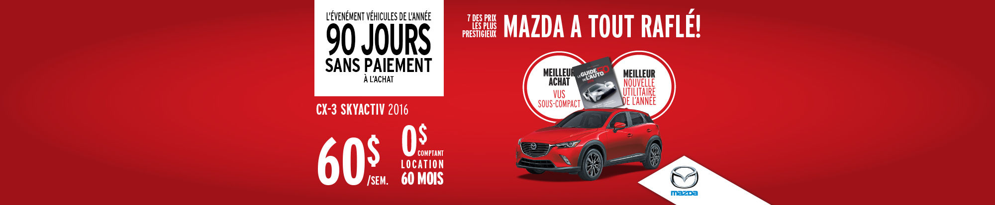 Véhicules de l'année Mazda CX-3