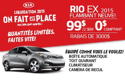 La Rio EX 2015 en location à 99$