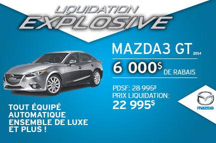 Liquidation explosive Mazda3 GT