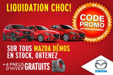 Liquidation Choc: Tous Mazda Démos