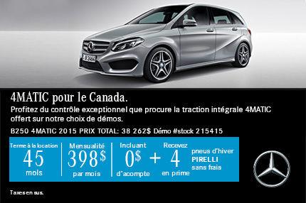 4MATIC pour le Canada-Demo - B 250