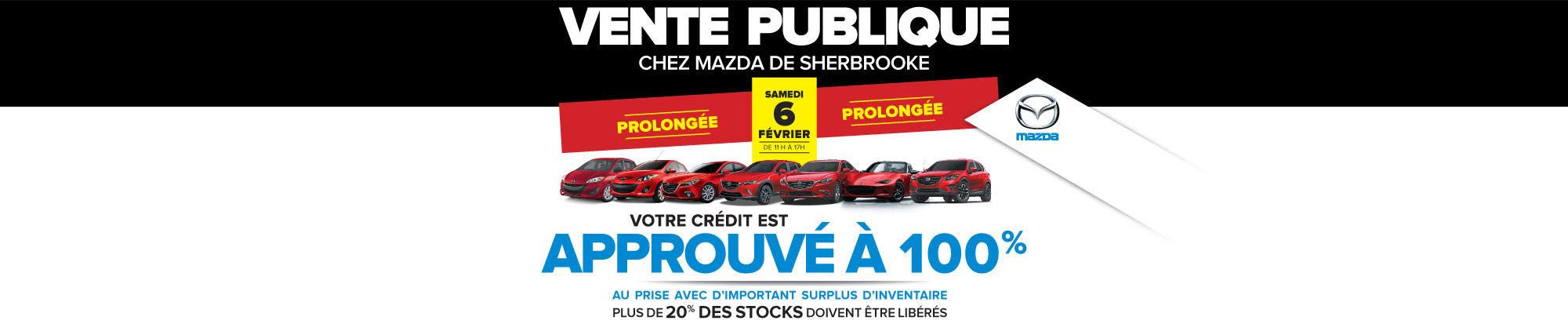 Vente publique chez Mazda Sherbrooke  prolongée