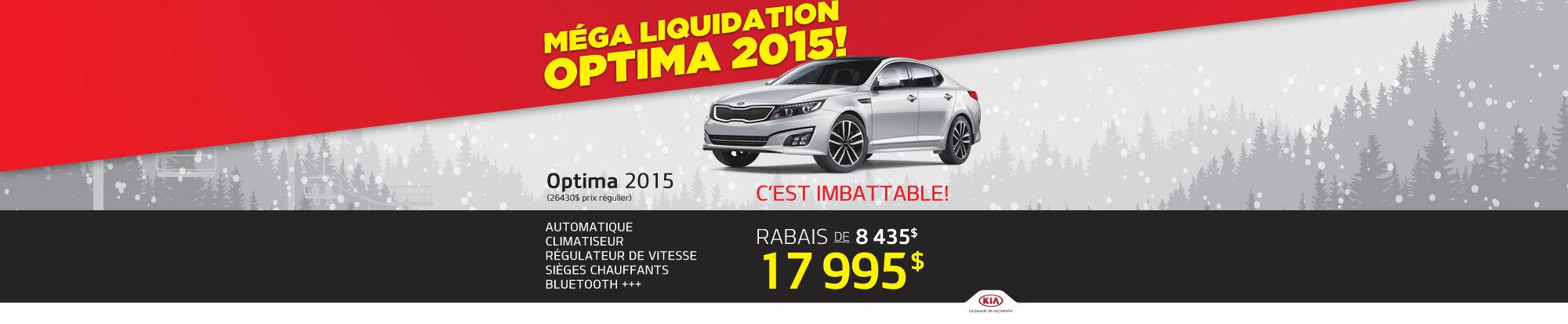 Méga liquidation - Optima 2015