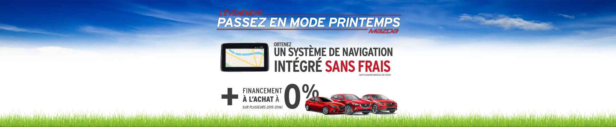 Événement passez en mode printemps Mazda