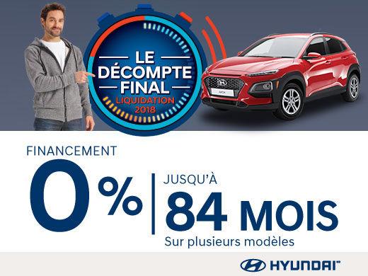 Ne manquez pas le DÉCOMPTE FINAL chez Hyundai Magog!