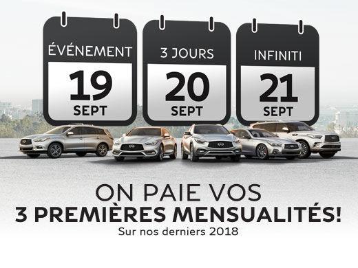 L'ÉVÉNEMENT 3 JOURS INFINITI