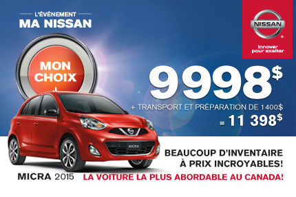Nissan Micra 2015 à 11 398$