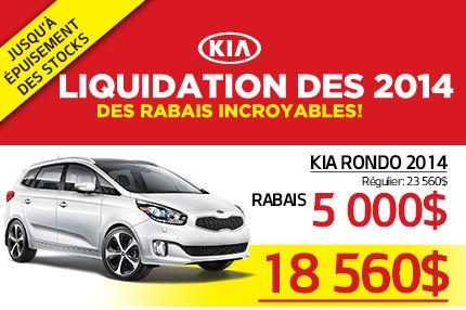 Liquidation des Kia Rondo 2014 à 18 560$