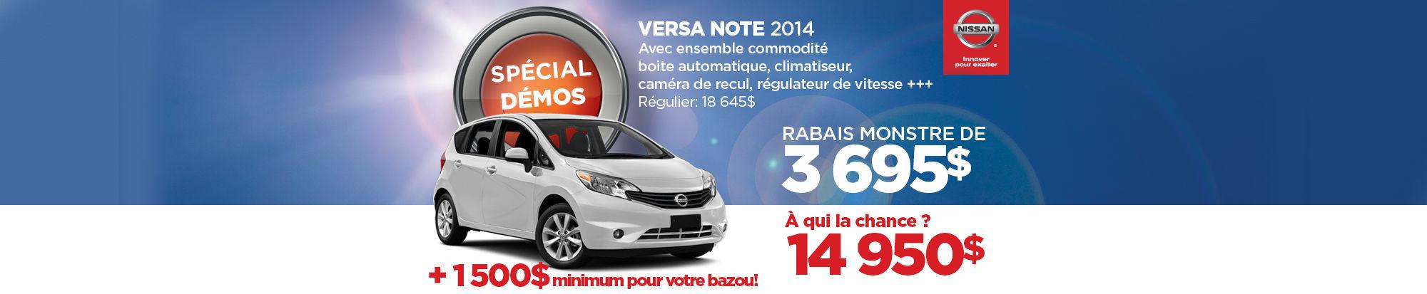 La Nissan Versa Note démo 2014