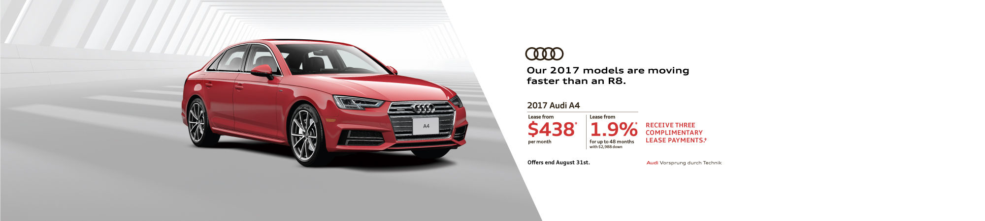 August 2017 Audi A4 Offer