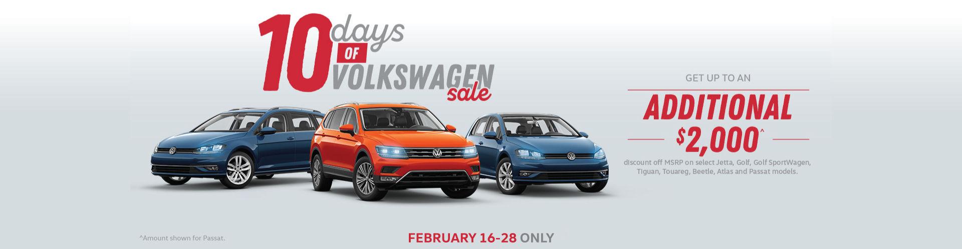 Volkswagen 10-Day Sale Teaser