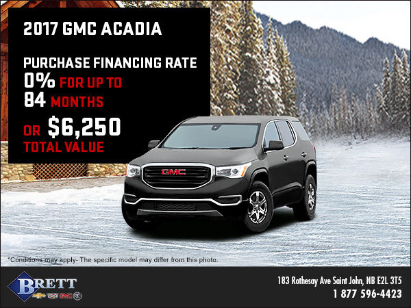 Get the 2017 GMC Acadia Today!