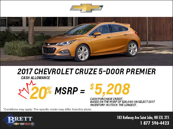 Save this Month on the 2017 Chevrolet Cruze 5-door!
