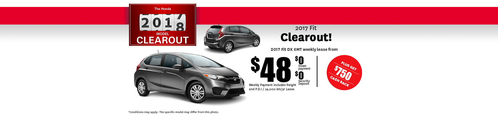 2017 Honda Clearout Fit- October