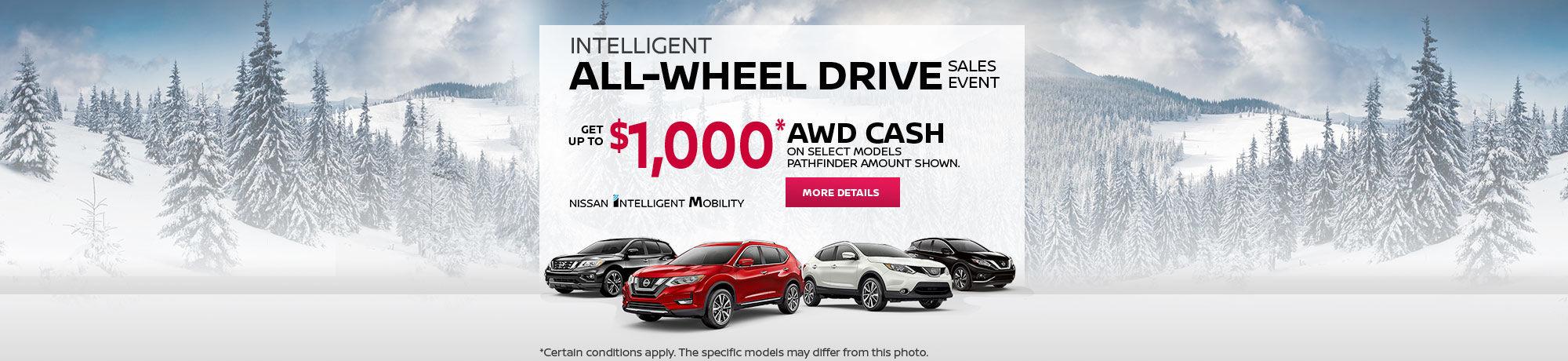Nissan Intelligent All-Wheel Drive Sales Event!
